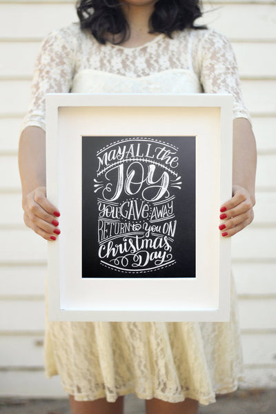 "Art print - 8x10"" May all the Joy you gave away return to you on Christmas day - howjoyfulshop"