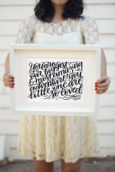 Art print  - you are our greatest adventure - howjoyfulshop