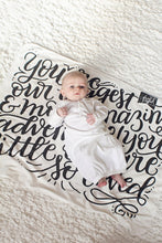 Load image into Gallery viewer, Swaddle - You are our biggest and most amazing adventure - howjoyfulshop