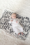 Swaddle - You are our biggest and most amazing adventure - LAP SIZE - SALE - howjoyfulshop