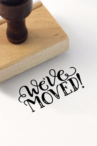 Stamp - We've moved - SALE - howjoyfulshop