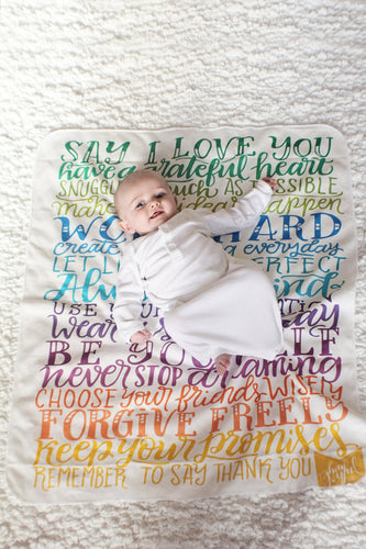 Rainbow wishes swaddle - Organic cotton - LAP SIZE - SALE - howjoyfulshop