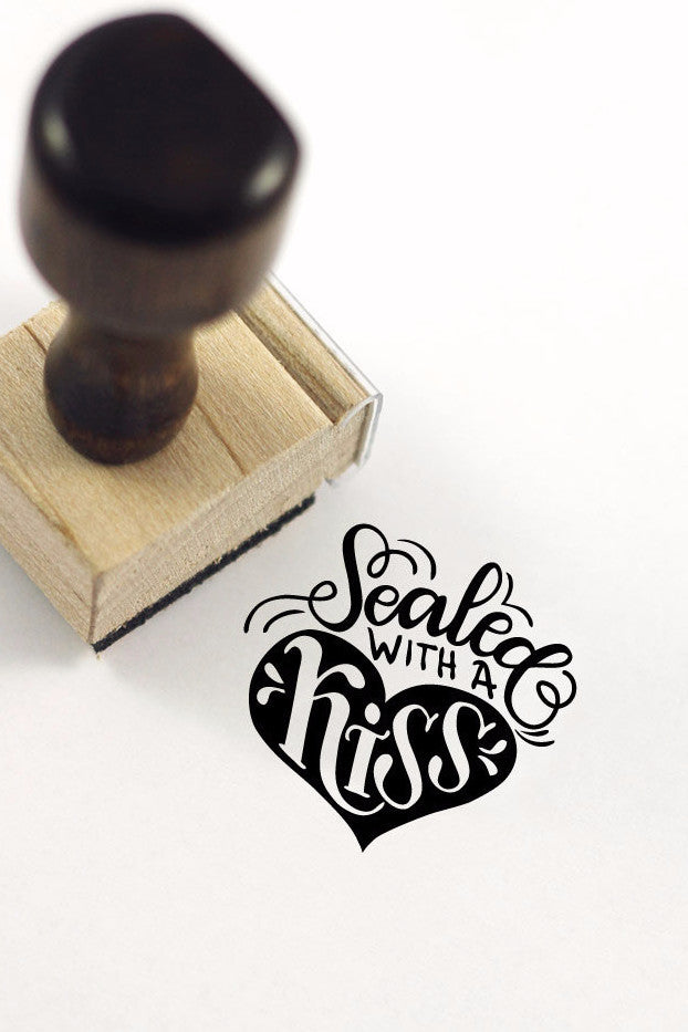 Stamp - Sealed with a Kiss - SALE - howjoyfulshop