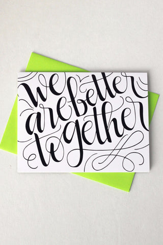 Card - We are better together - howjoyfulshop