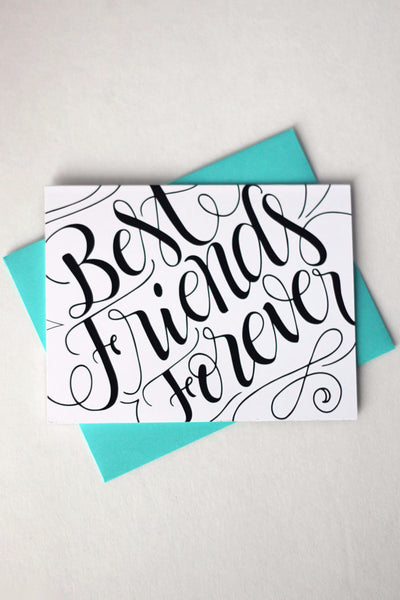 Card - Best friends forever - BFF card - howjoyfulshop