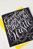 Card - Good things come to those who hustle - howjoyfulshop