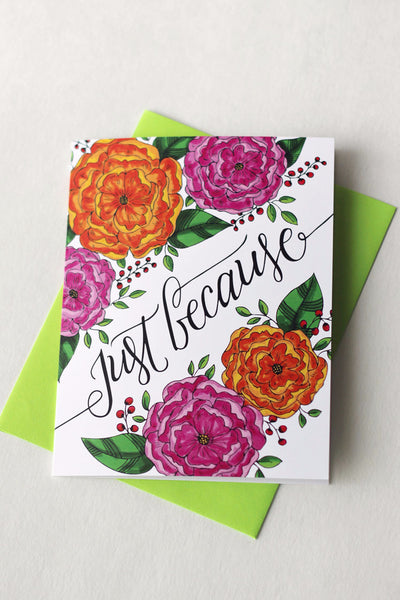 Card - Just because - howjoyfulshop