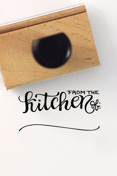 Stamp - From the kitchen of - howjoyfulshop
