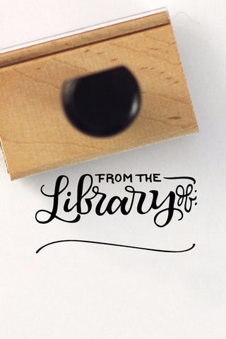 Stamp - From the library of - howjoyfulshop