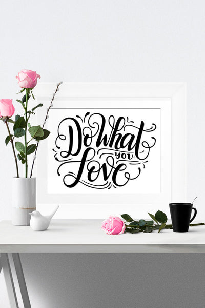 Art print - Do what you love - howjoyfulshop