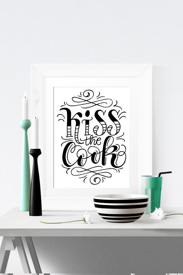 Art print  - Kiss the cook - howjoyfulshop