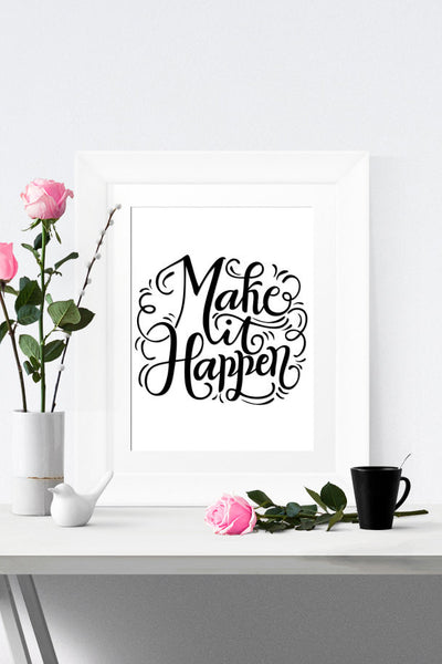 Art print - Make it happen - howjoyfulshop