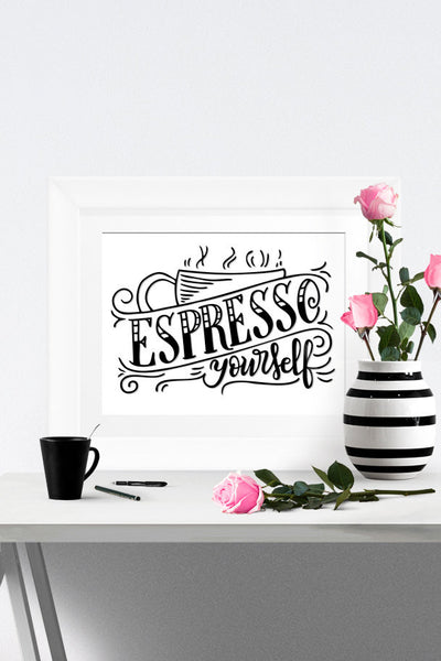 Art print - Espresso yourself - howjoyfulshop