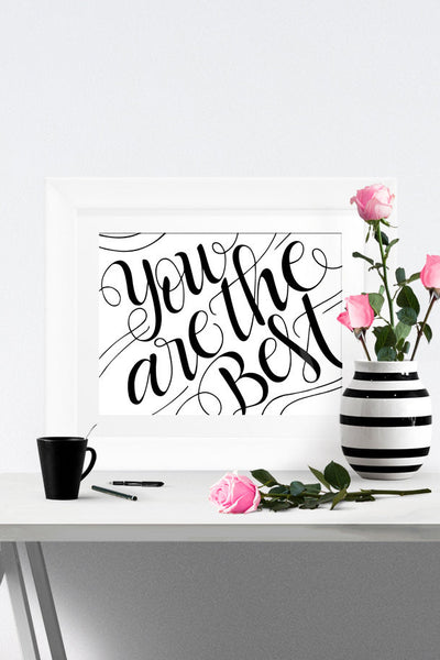 Art print - You are the best - howjoyfulshop