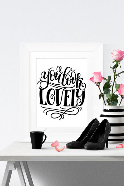 Art print - You look lovely - howjoyfulshop
