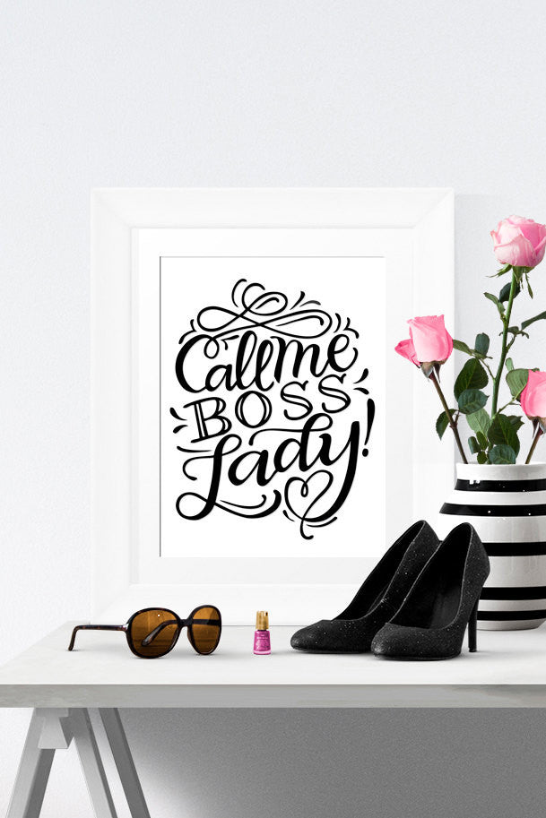Art print  - Call me boss lady! - howjoyfulshop