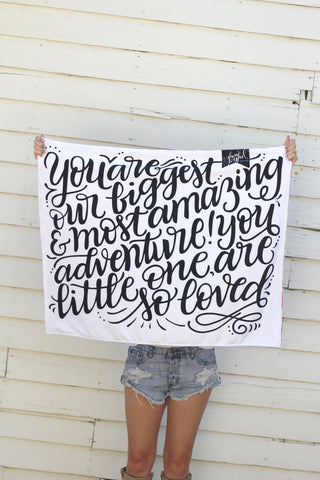 Minky Blanket Double sided - You are our greatest adventure - howjoyfulshop