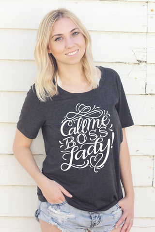 Tee - Call me boss lady! - howjoyfulshop