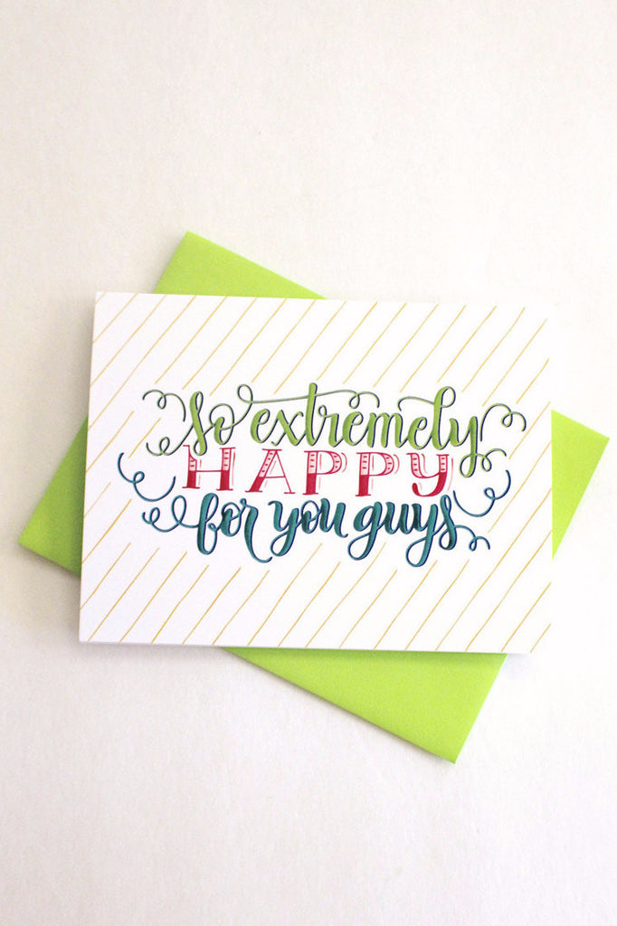 Card - So extremely happy for you guys - howjoyfulshop