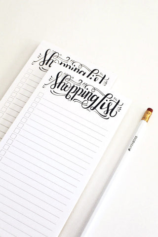 notepad - Shopping list - howjoyfulshop