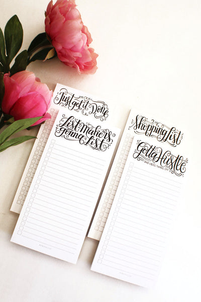 notepad - Gotta hustle, and cross things off - howjoyfulshop