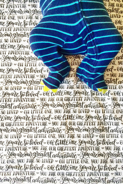 Swaddle - You are our greatest adventure - Small pattern - howjoyfulshop