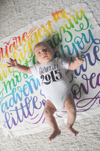 Load image into Gallery viewer, Swaddle - You are our biggest and most amazing adventure - Rainbow color - howjoyfulshop
