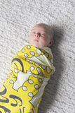 Swaddle - Organic cotton - LAP SIZE - You are my sunshine, my only sunshine - SALE - howjoyfulshop
