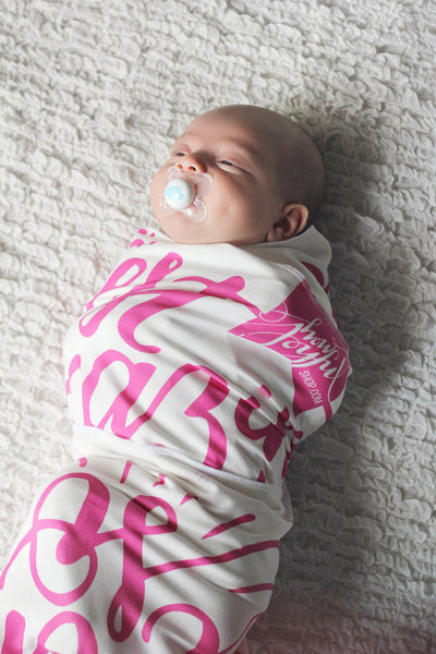 Swaddle - You are our biggest and most amazing adventure - Custom color - howjoyfulshop