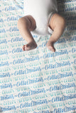 Personalized Swaddle - 2 color design - Birth announcement - howjoyfulshop