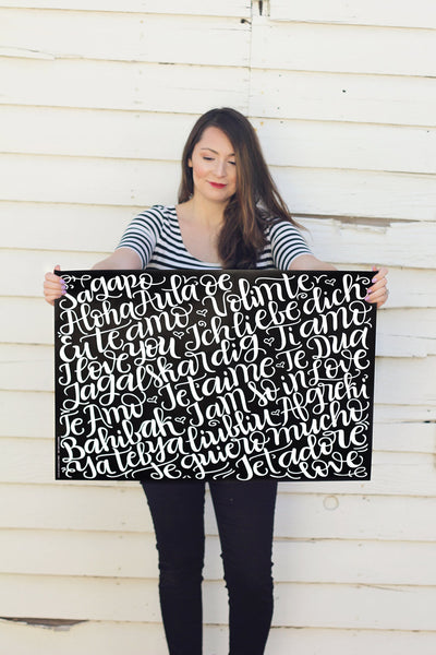 Wrapping sheets - Love languages - Double sided - howjoyfulshop