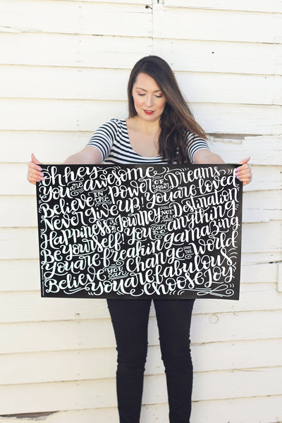 Wrapping sheets - Empowering words - Double sided