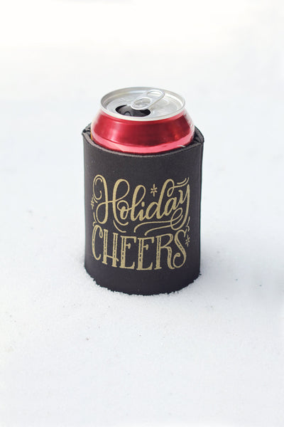 Can cooler - Holiday Cheers
