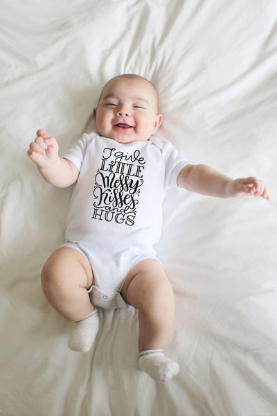 PREORDER - Bodysuit - I give little messy kisses and hugs - howjoyfulshop