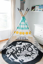 Cargar imagen en el visor de la galería, Play towel - Play - Mountains, lake and camp - howjoyfulshop