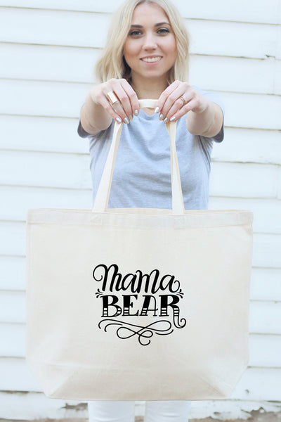 Big Tote bag - Mama bear - howjoyfulshop