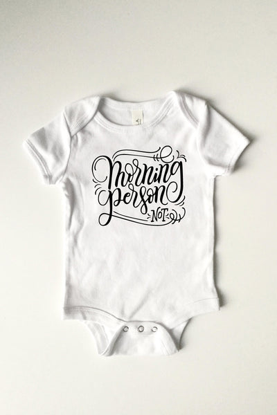 PREORDER - Bodysuit - Morning person, not - howjoyfulshop