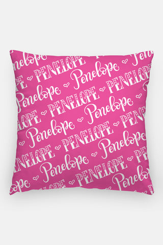 Pillow - Name pattern - Custom color - howjoyfulshop
