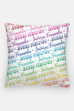 Pillow - Custom name - Rainbow color - howjoyfulshop