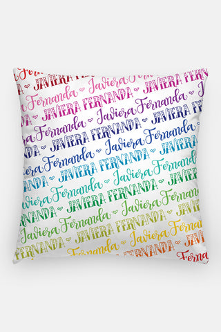 Pillow - Custom name - Rainbow color
