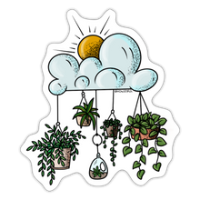 Load image into Gallery viewer, Clouds with hanging pots - Sticker - white matte