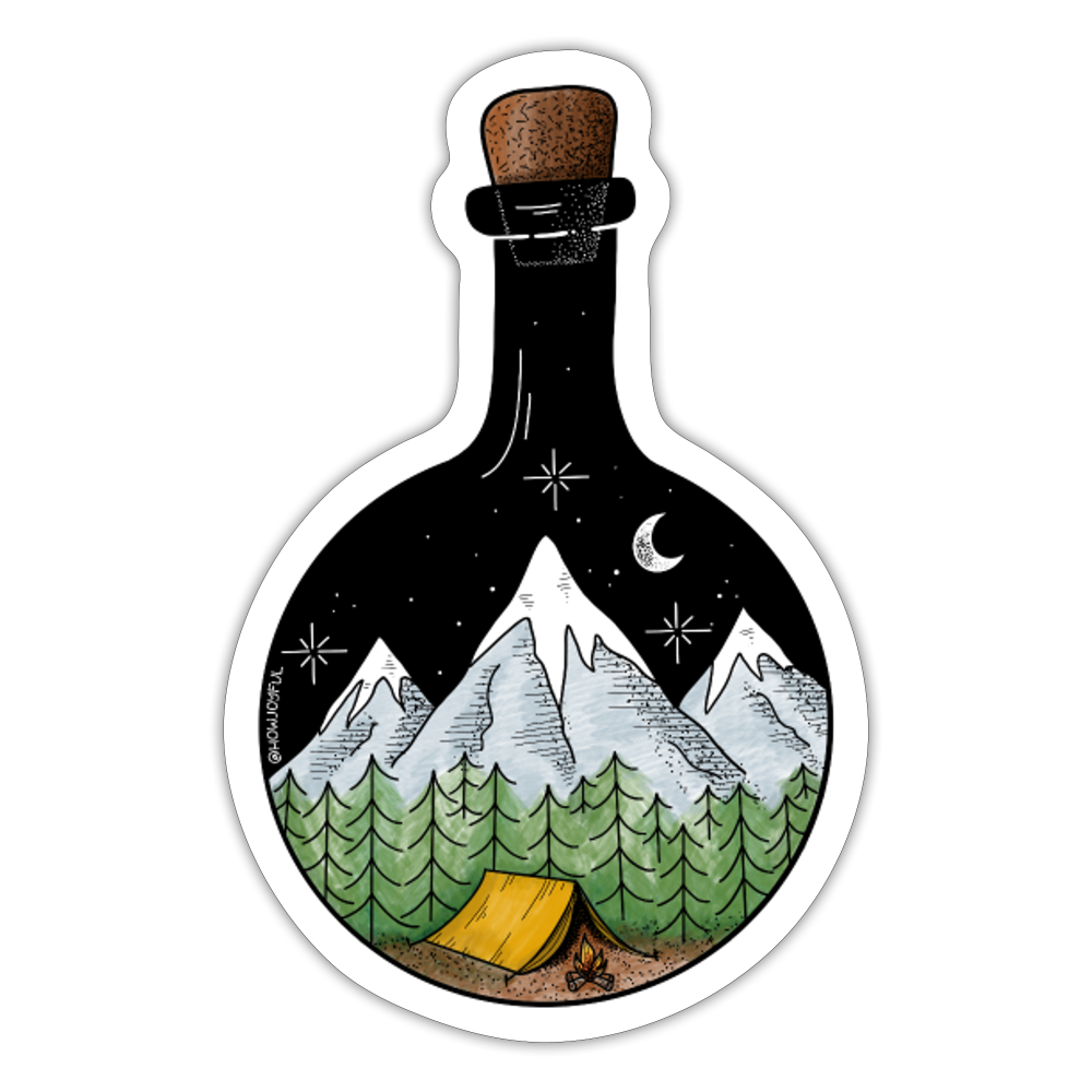 Bottled adventure - Sticker - white matte