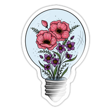 Load image into Gallery viewer, Floral light bulb - Sticker - white glossy