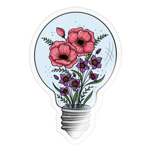 Load image into Gallery viewer, Floral light bulb - Sticker - transparent glossy