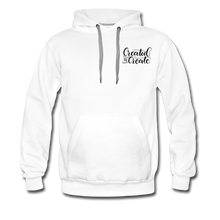 Load image into Gallery viewer, Created to create - Unisex Premium Hoodie White - white