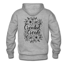 Load image into Gallery viewer, Created to create - Unisex Premium Hoodie White - heather gray