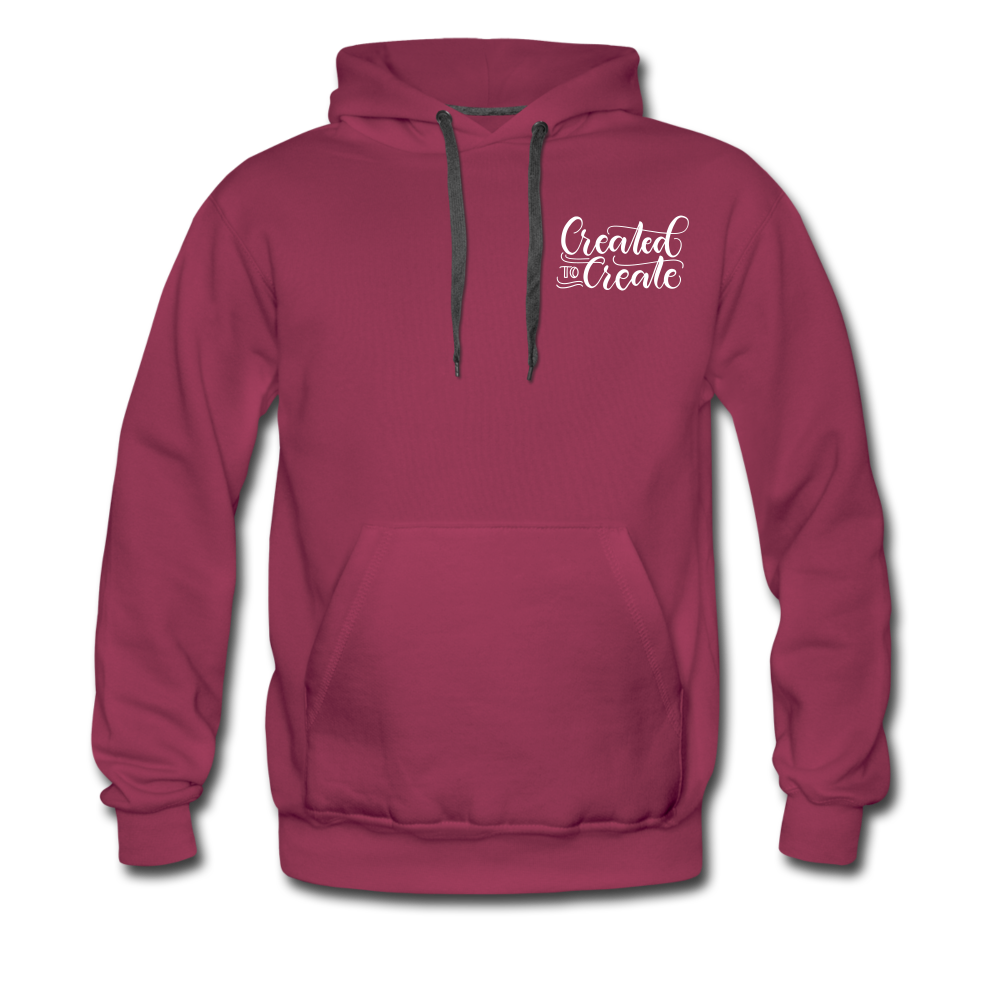 Created to create - Unisex Premium Hoodie - burgundy