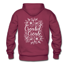 Load image into Gallery viewer, Created to create - Unisex Premium Hoodie - burgundy