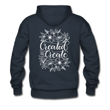 Load image into Gallery viewer, Created to create - Unisex Premium Hoodie - navy