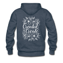 Load image into Gallery viewer, Created to create - Unisex Premium Hoodie - heather denim